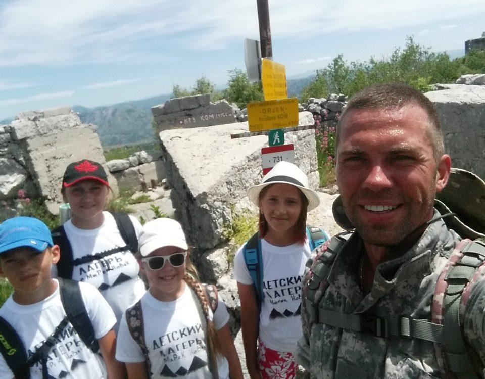 Однодневный поход в горы с детьми в Черногории