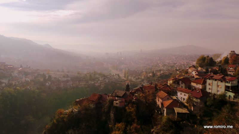 Вид сверху на Сараево